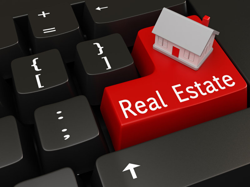 Real Estate and House on Keyboard